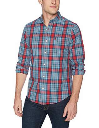 Original Penguin Men's Long Sleeve Plaid Button Down Shirt