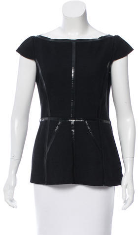 prada Prada Virgin Wool Sleeveless Top
