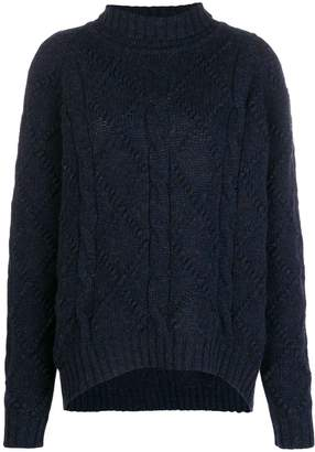Jil Sander cable-knit roll-neck sweater