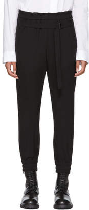 Ann Demeulemeester Black Wool Lounge Pants