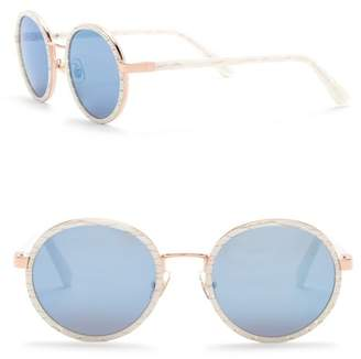 Cat Eye SUNDAY SOMEWHERE Ned 50mm Round Sunglasses
