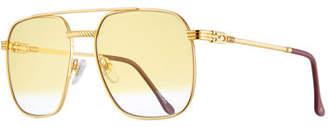 bcf8562245 Vintage Frames Company Men s Gold-Plated Aviator Sunglasses