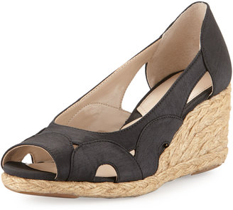 Adrienne Vittadini Bounce Cutout Wedge Pump, Black $69 thestylecure.com