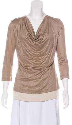 Fabiana Filippi Cowl Neck Long Sleeve Top
