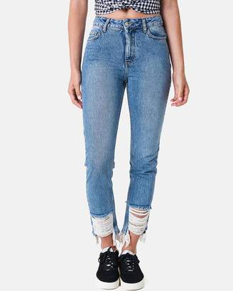 NA-KD Ripped Hem Jeans