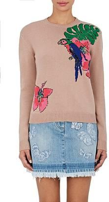 Valentino Women's Tropical Cashmere Sweater $2,790 thestylecure.com