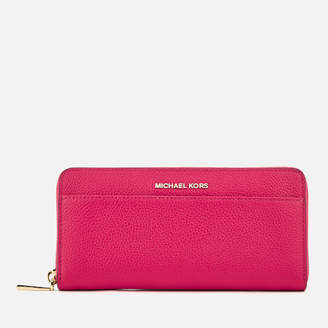 Leather Zip Around Wallet - Poppy Dreams by VIDA VIDA