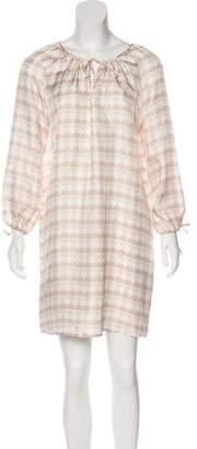 Thomas Wylde Printed Long Sleeve Dress
