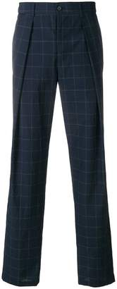 Emporio Armani pleated checked trousers