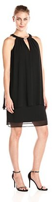 Jessica Howard Women's Rhinestone Keyhole Neck Dress $99.99 thestylecure.com