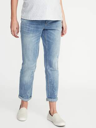 Old Navy Maternity Full-Panel Distressed Boyfriend Jeans