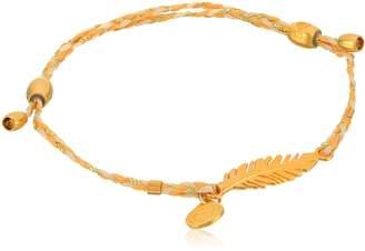 Alex and Ani Precious Threads, Feather, Daybreak Braid Bangle Bracelet
