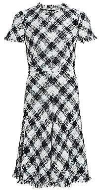 Alexander McQueen Women's Plaid Tweed Wool-Blend A-Line Dress