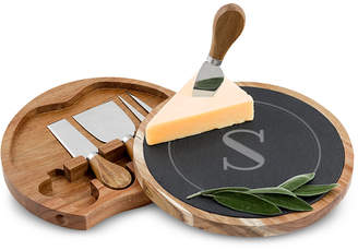 Cathy's Concepts Personalized Slate and Acacia Wood Cheese Board Set