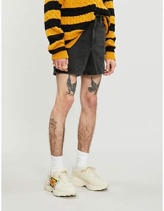 Gucci Faded regular-fit denim shorts