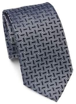 Emporio Armani Geometric Dot Silk Tie