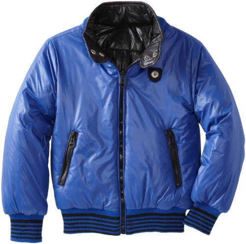 Diesel Big Boys' Jisloy Nylon 2 Color Reversible Jacket