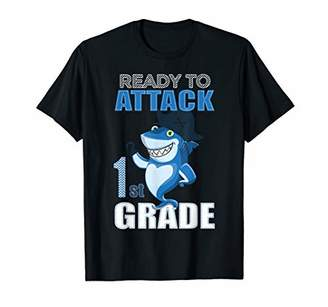 Ready to attack first grade 1st back to school shark gift T-Shirt