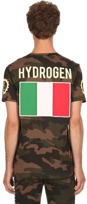 Hydrogen Garage Italia Logo Cotton Jersey T-Shirt