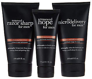 philosophy A-Dphilosophy prep,shave & hydrate trio for menAuto-Delivery