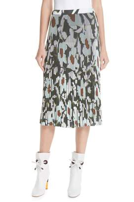 Christian Wijnants Floral Pleated Knit Skirt