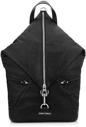 Jimmy Choo FITZROY Black Biker Leather Backpack