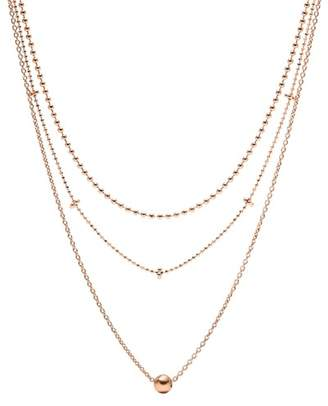 Fossil Multi Gold-Tone Brass Necklace jewelry