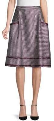 Carolina Herrera Cotton A-Line Skirt