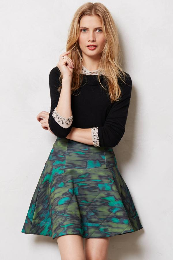 Camo Quilted Skirt