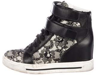 Marc by Marc Jacobs Lace High-Top Sneakers