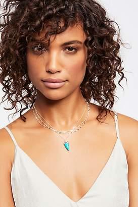 Marida Jewelry Triple Delicate Stone Necklace