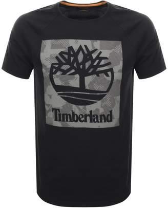 Timberland Logo T Shirt Black