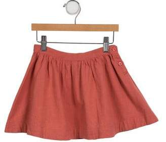 Caramel Baby & Child Girls' Flared Linen Skirt