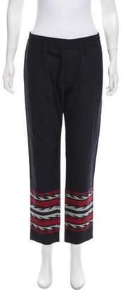 Moncler Mid-Rise Wool Pants
