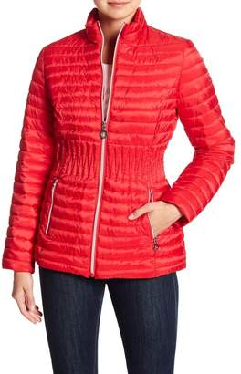 Laundry by Shelli Segal Cinched Waist Puffer Jacket