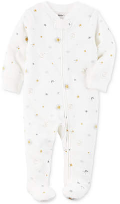 Carter's 1-Pc. Sun & Moon Footed Coverall, Baby Boys & Girls (0-24 months) $16 thestylecure.com
