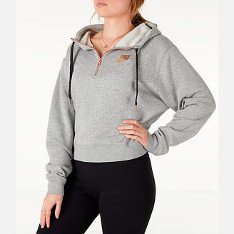 Nike Women's Sportswear Air Crop Half-Zip Hoodie