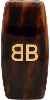 Balenciaga Brown Tortoiseshell BB Clip-On Earring