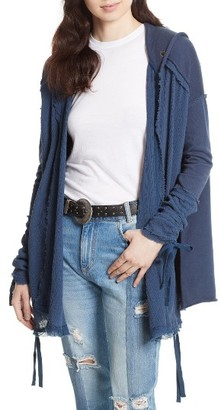 Women's Free People Get Yer Gauze Hooded Cotton Cardigan $128 thestylecure.com