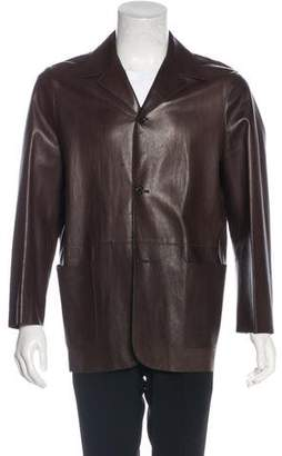 Prada Leather Sport Coat