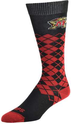 NCAA Women's Mojo Maryland Terrapins Argyle Socks