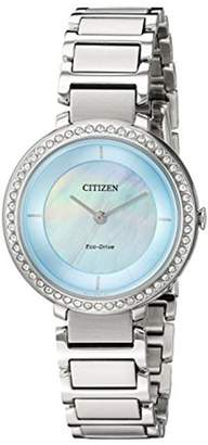 Citizen Women's Eco-Drive Crystal Bracelet Watch, 30mm