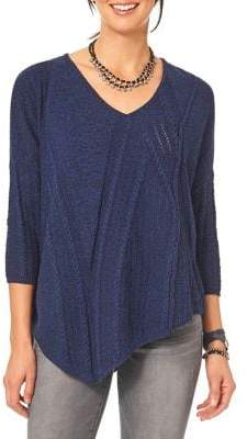 Democracy Cable-Knit Asymmetrical Sweater