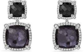 David Yurman Châtelaine® Pave Bezel Double Drop Earring With Black
