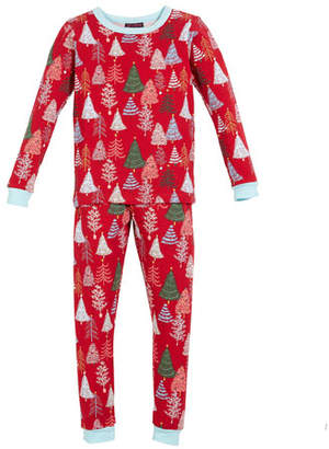 BedHead Holiday Trees Pajama Set, Size 10-14