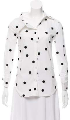 Monse Dotted Button-Up Top w/ Tags