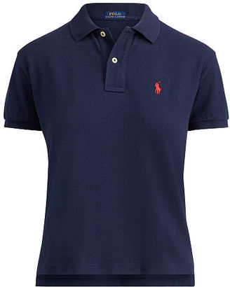 Polo Ralph Lauren Cropped Cotton Mesh Polo $85 thestylecure.com