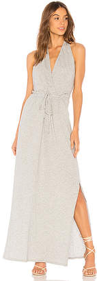 Bobi Supreme Jersey Side Slit Halter Dress