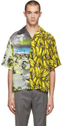 Prada Multicolor Short Sleeve Bananas and Cartoon Shirt
