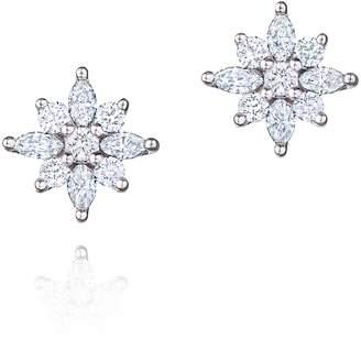 Kwiat .49ct tw Diamond Star Earrings